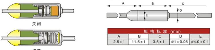 【质量保证】厂家供应一次性ry温度保险丝   保险丝结构图